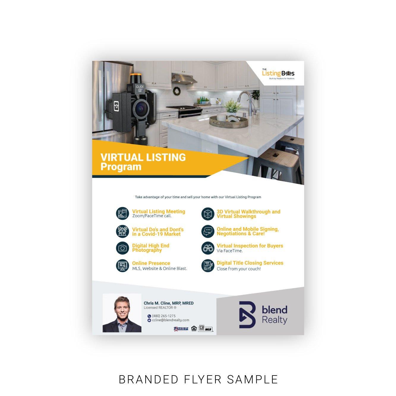 Virtual Listing Custom Flyer Sample